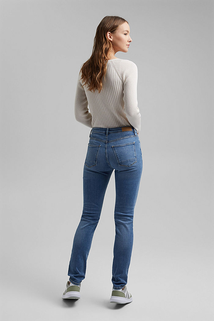 Stretch jeans made of organic cotton, BLUE LIGHT WASHED, detail image number 3