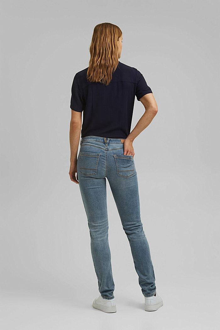 Jogger jeans met biologisch katoen, BLUE LIGHT WASHED, detail image number 3