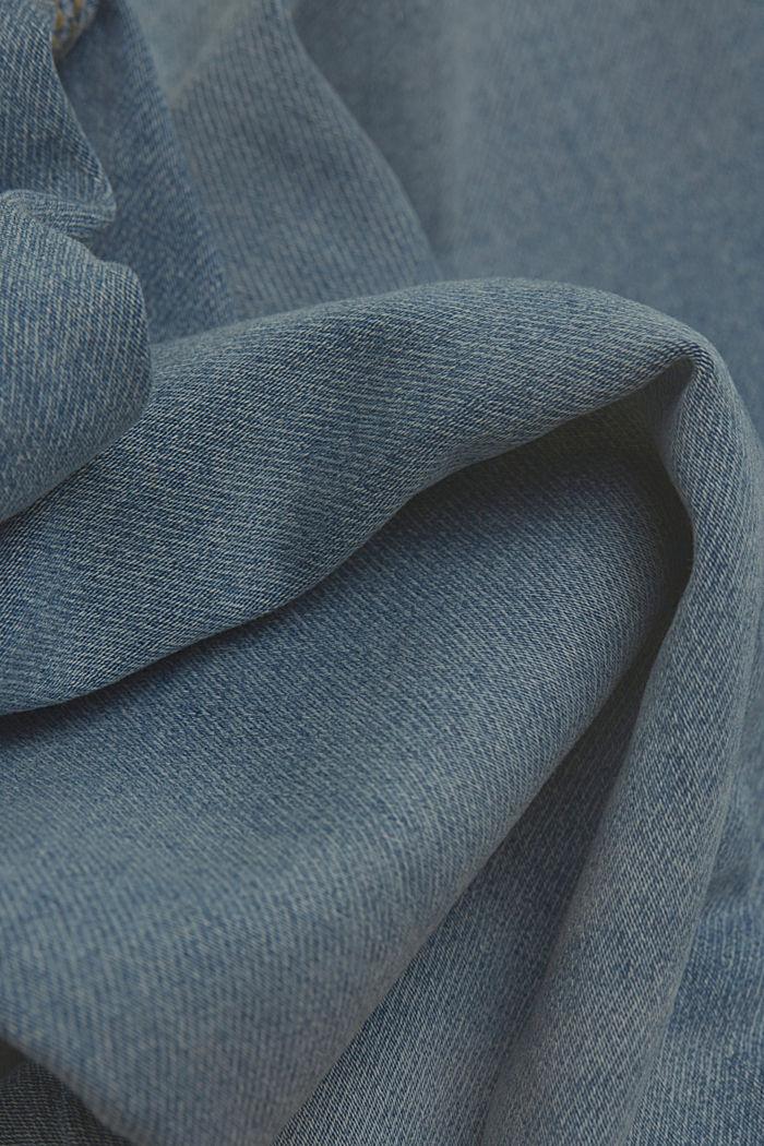 Jogger jeans met biologisch katoen, BLUE LIGHT WASHED, detail image number 4