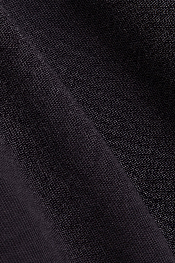 Tracksuit bottoms in 100% organic cotton, BLACK, detail image number 4
