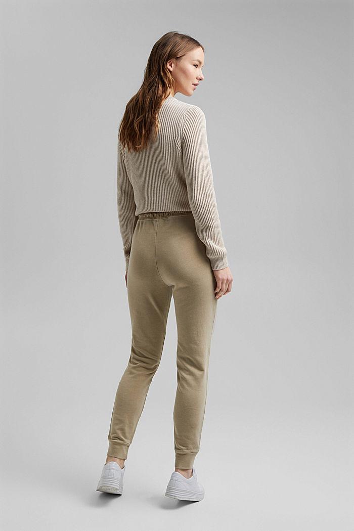Pantalon molletonné, 100% coton bio, SAND, detail image number 3