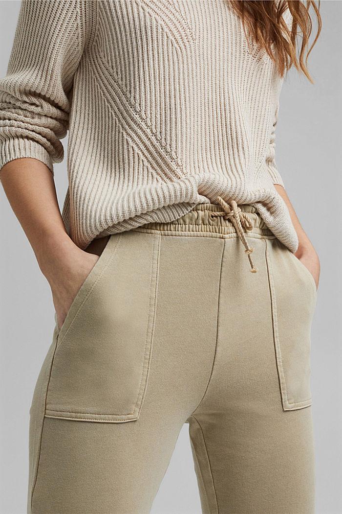 Pantalon molletonné, 100% coton bio, SAND, detail image number 2