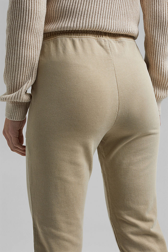 Tracksuit bottoms in 100% organic cotton, SAND, detail image number 5