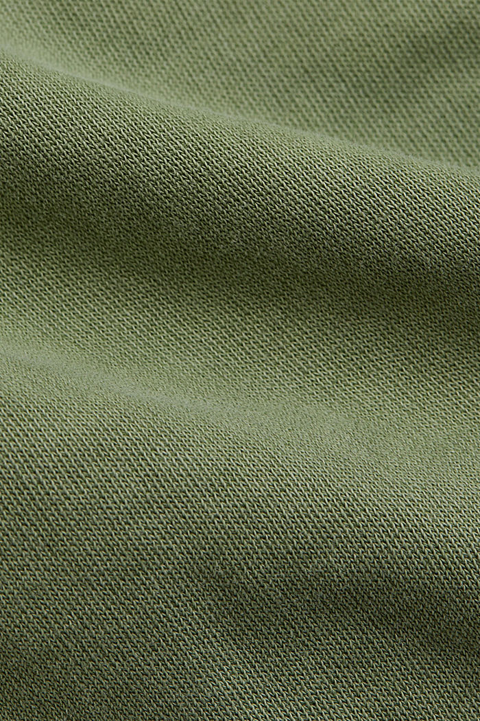 Tracksuit bottoms in 100% organic cotton, LIGHT KHAKI, detail image number 4