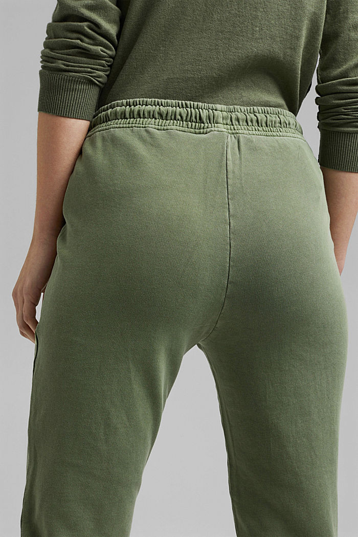 Tracksuit bottoms in 100% organic cotton, LIGHT KHAKI, detail image number 5