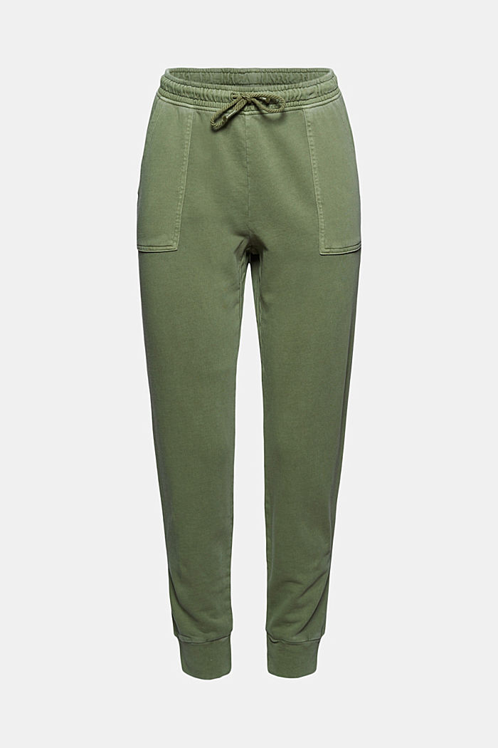 Tracksuit bottoms in 100% organic cotton, LIGHT KHAKI, detail image number 7