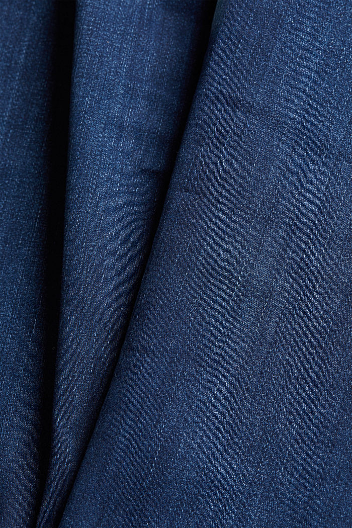 Stretch jeans made of organic cotton, BLUE DARK WASHED, detail image number 4