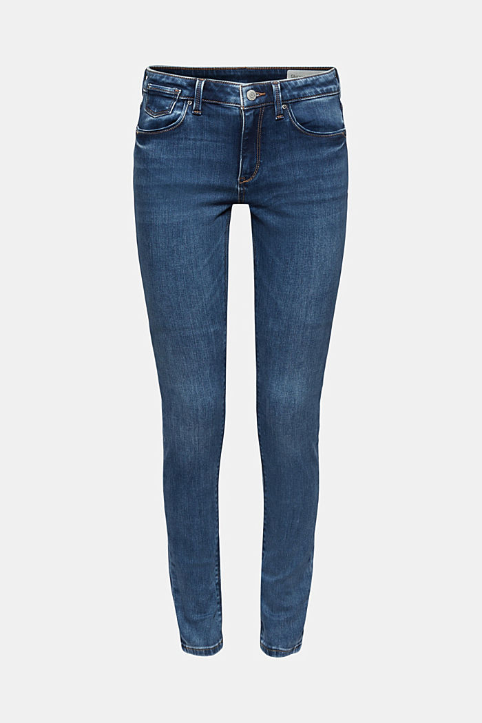 Stretch jeans made of organic cotton, BLUE MEDIUM WASHED, detail image number 7