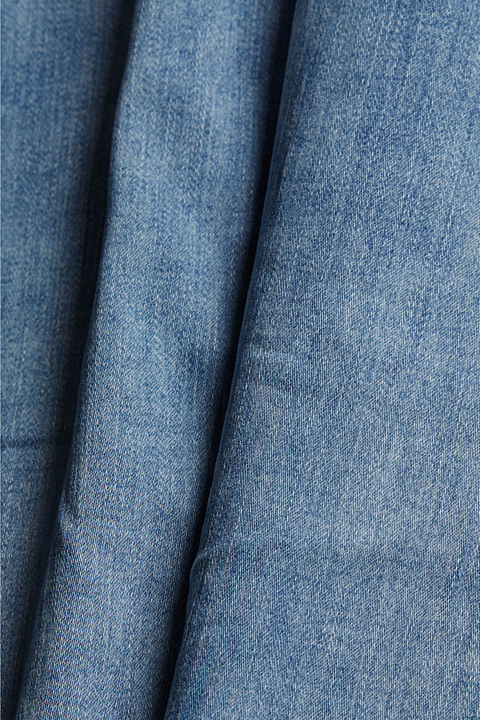 Stretch-Denim aus Organic Cotton, BLUE LIGHT WASHED, detail image number 4