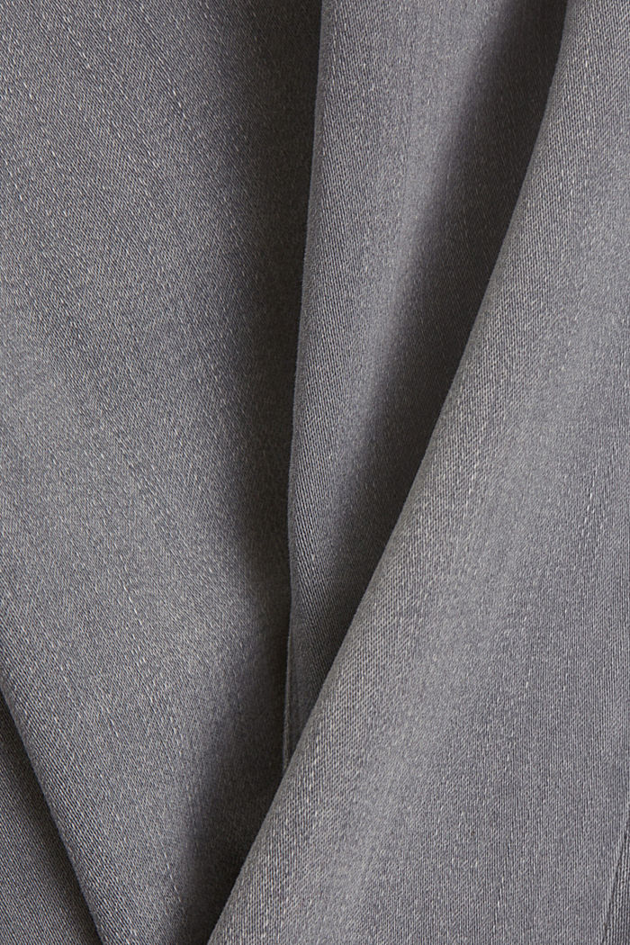 Stretchjeans met biologisch katoen, GREY LIGHT WASHED, detail image number 4