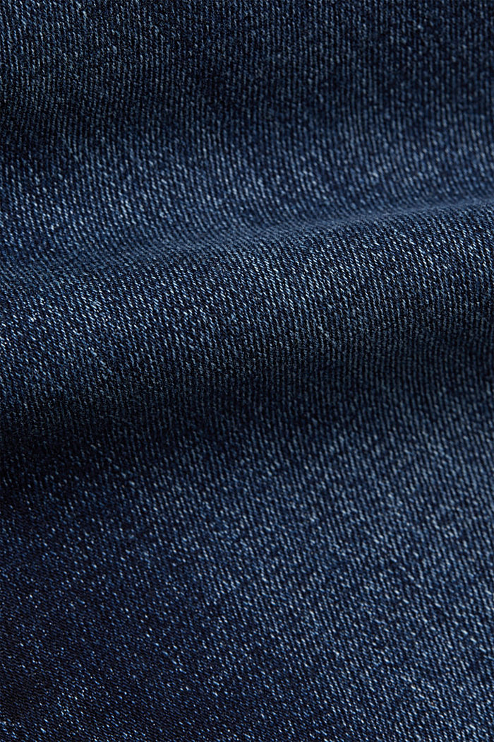 Stretch jeans with a washed effects, BLUE DARK WASHED, detail image number 4