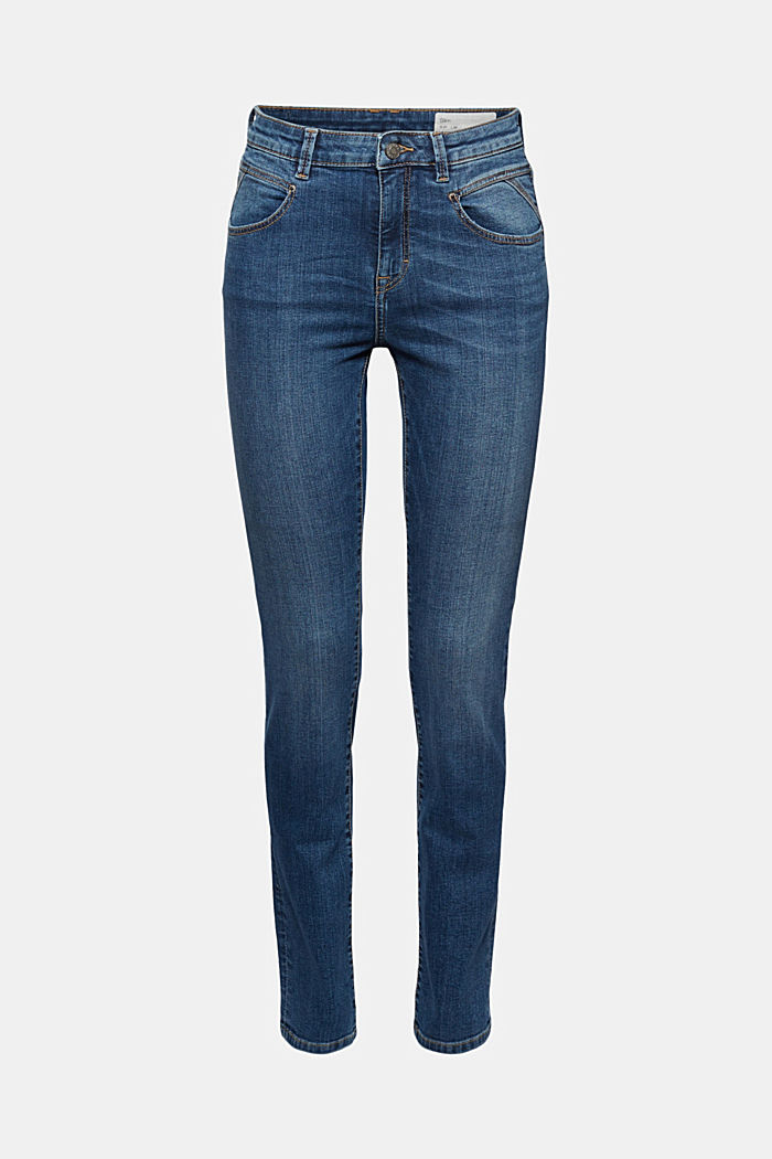 Stretch jeans with a washed effects