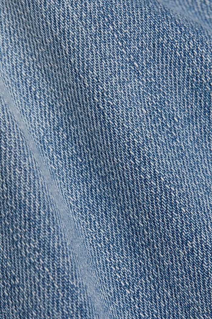 Organic cotton cropped jeans, BLUE LIGHT WASHED, detail image number 4