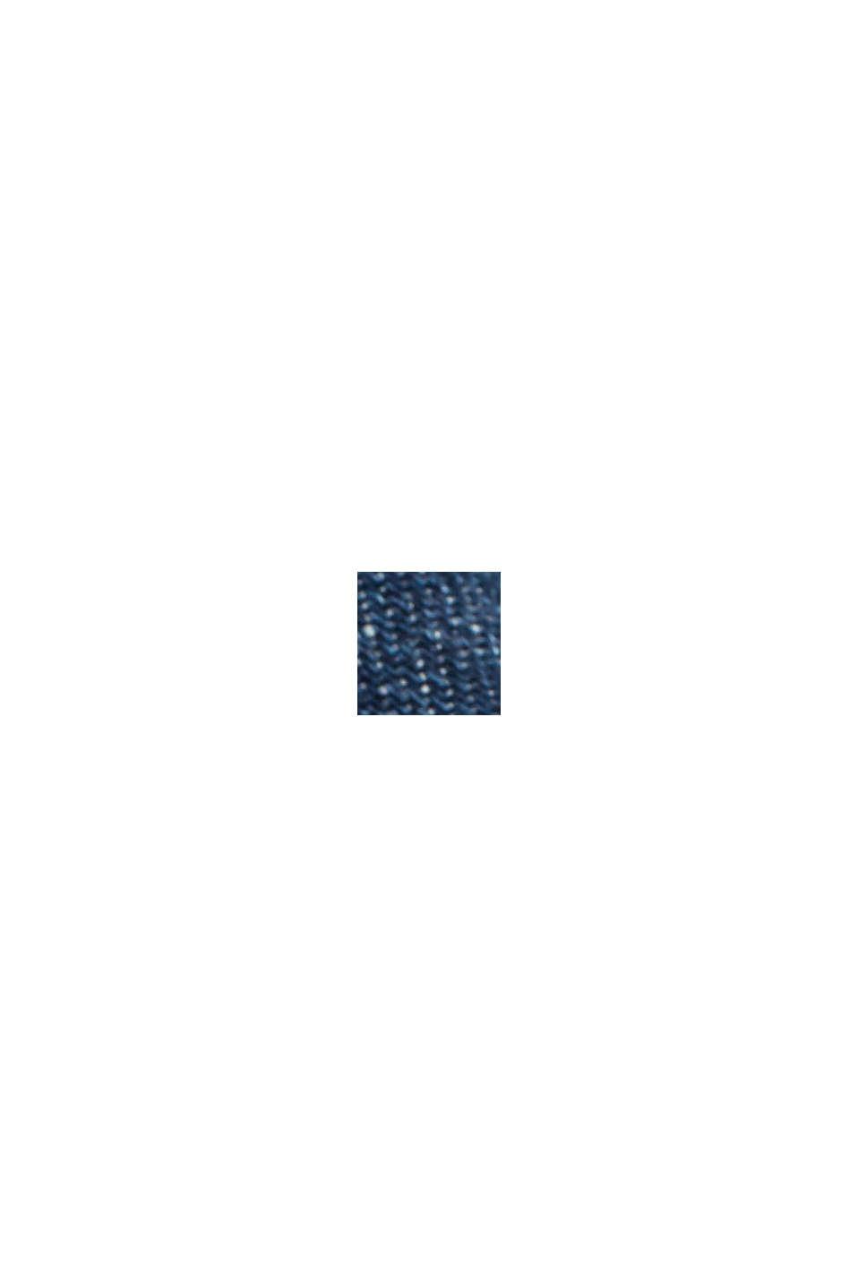 Jeans con cintura da annodare e cotone biologico, BLUE DARK WASHED, swatch