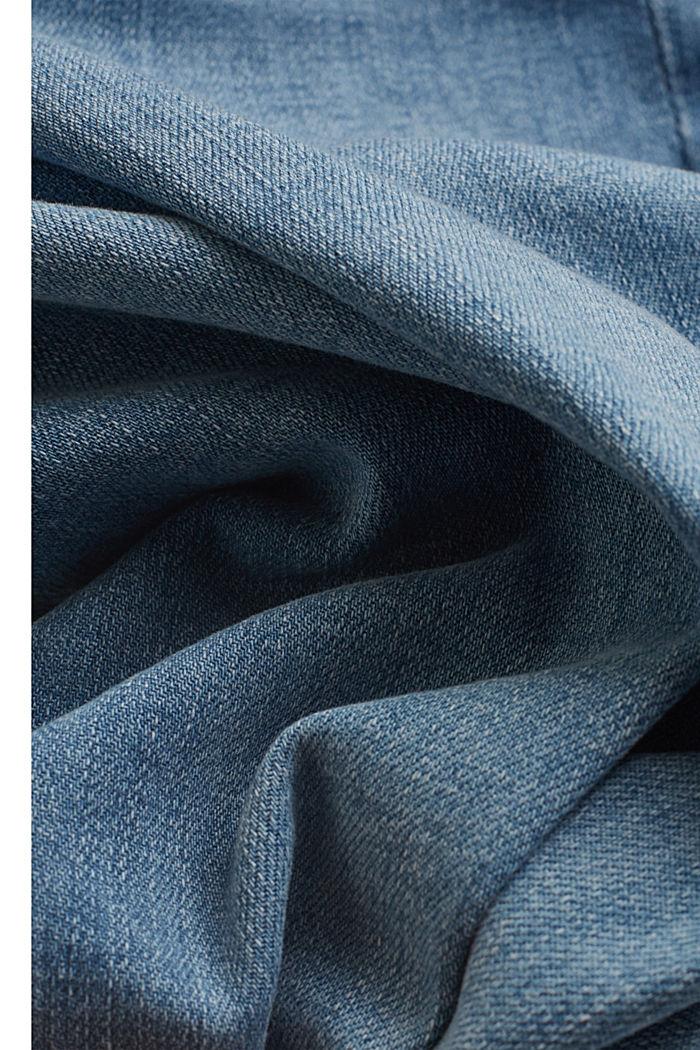 Jeans mit Bindegürtel und Bio-Baumwolle, BLUE LIGHT WASHED, detail image number 4