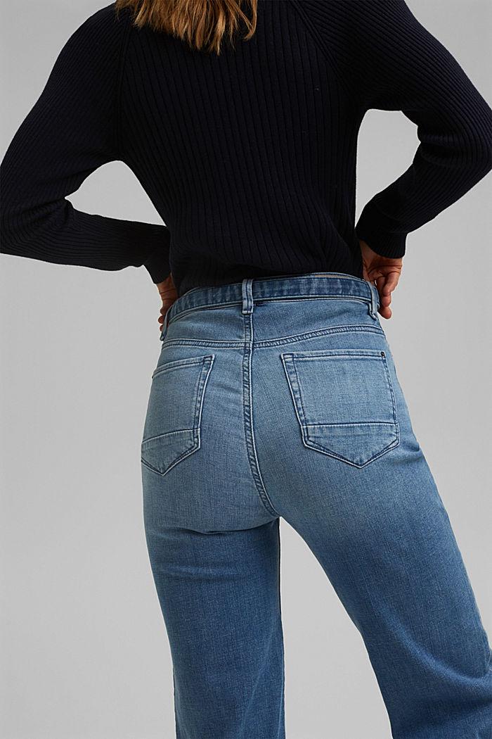 Jeans mit Bindegürtel und Bio-Baumwolle, BLUE LIGHT WASHED, detail image number 5