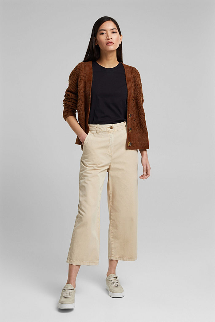 Culottes made of 100% Pima cotton, BEIGE, detail image number 1