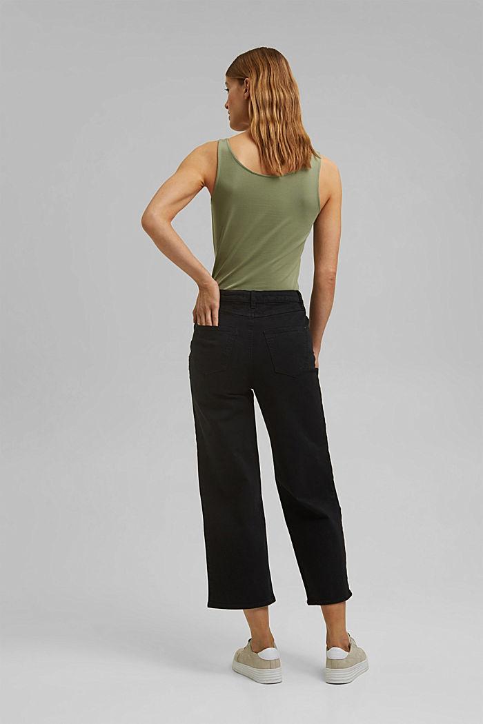 Stretch-Hose mit weitem Bein, Organic Cotton, BLACK, detail image number 3