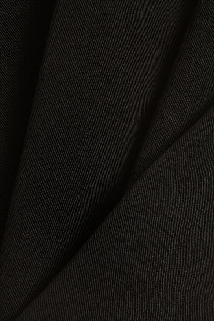 Stretch trousers with a wide leg, organic cotton, BLACK, detail image number 4