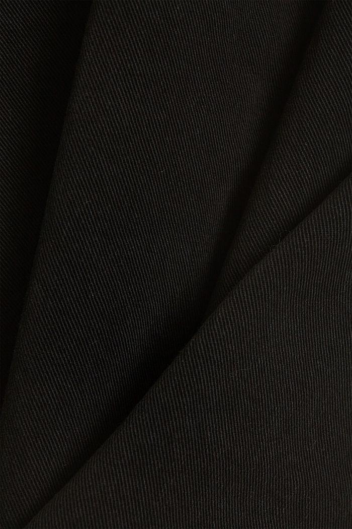 Stretch-Hose mit weitem Bein, Organic Cotton, BLACK, detail image number 4