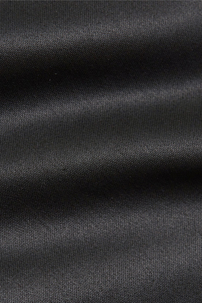 Stretchbroek met coating, BLACK, detail image number 4
