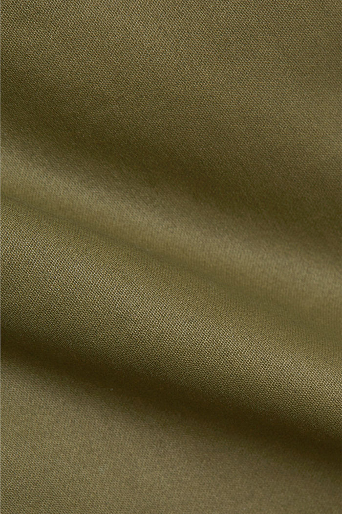 Coated stretch trousers, KHAKI GREEN, detail image number 4