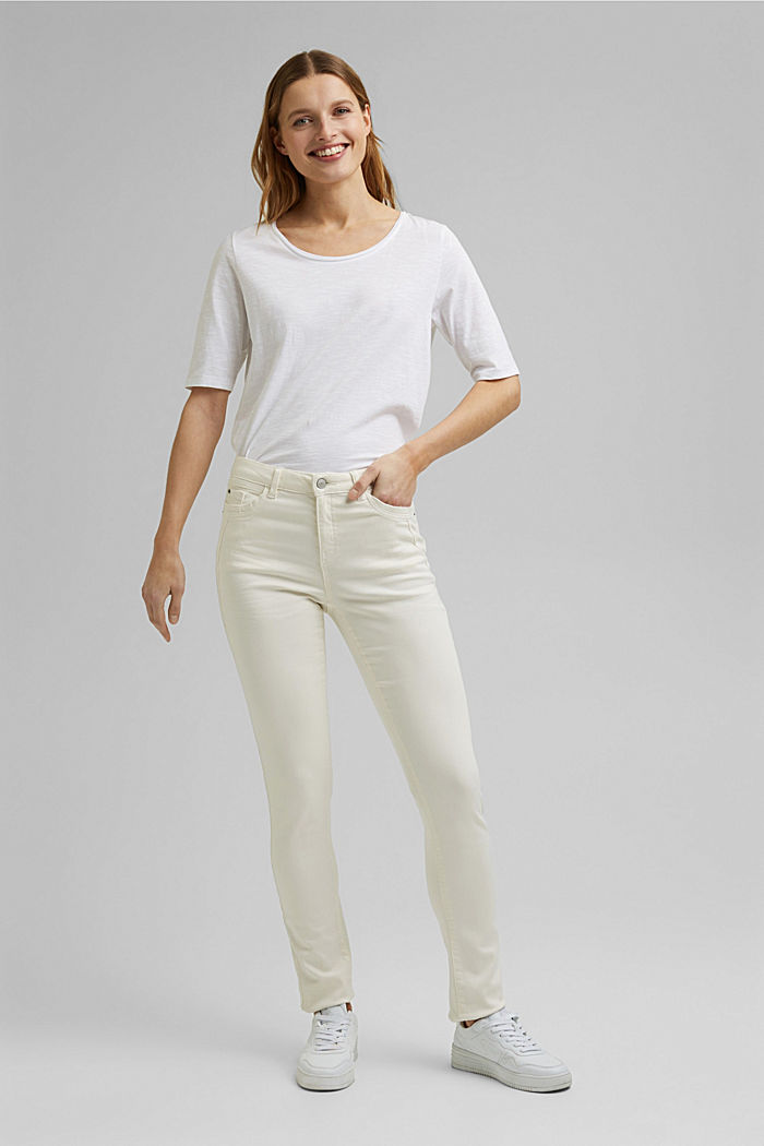Washed-effect stretch trousers, ICE, detail image number 1