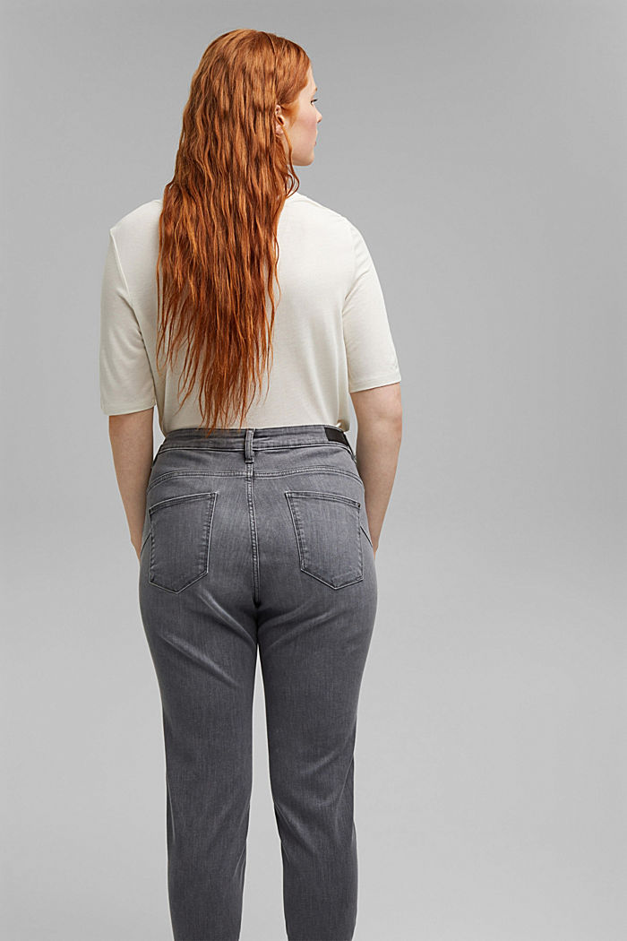 CURVY High-Rise-Jeans, GREY MEDIUM WASHED, detail image number 3