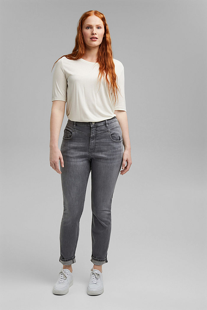 CURVY High-Rise-Jeans, GREY MEDIUM WASHED, detail image number 1
