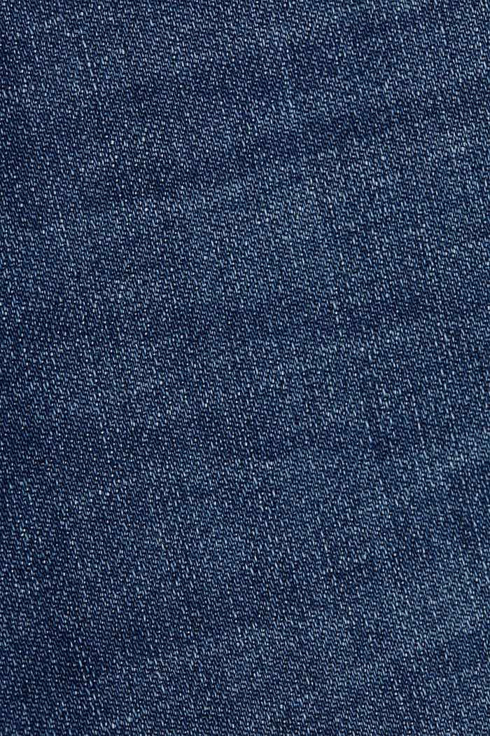 Denim culottes containing organic cotton, BLUE DARK WASHED, detail image number 4