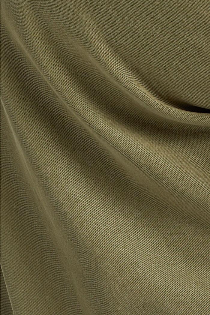 Pantalon CURVY en lyocell et coton biologique, LIGHT KHAKI, detail image number 4