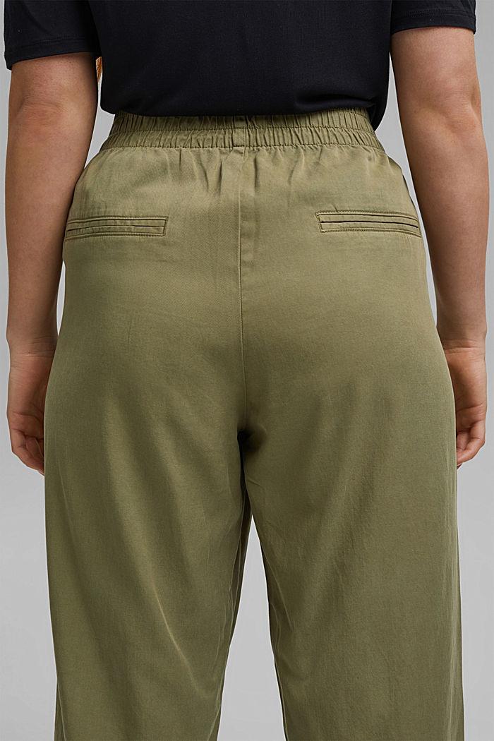 Pantalon CURVY en lyocell et coton biologique, LIGHT KHAKI, detail image number 5
