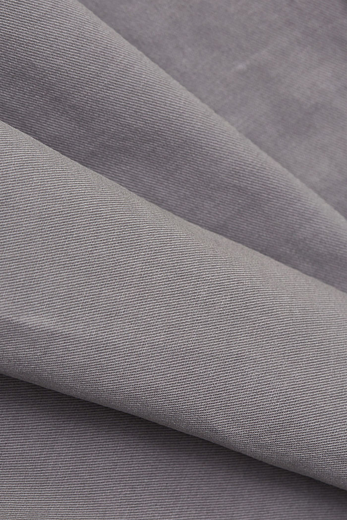 Cargo trousers made of pima cotton, LIGHT GREY, detail image number 4