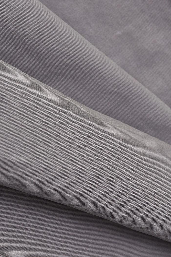 Pantalon cargo en coton Pima, LIGHT GREY, detail image number 4