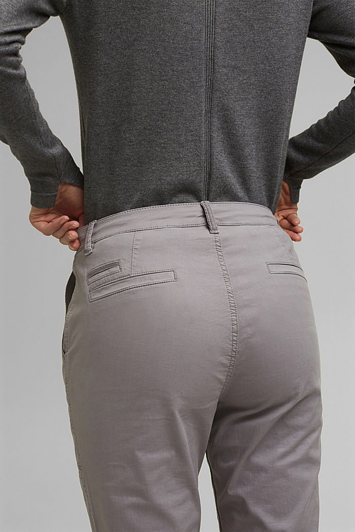 Cargo trousers made of pima cotton, LIGHT GREY, detail image number 5