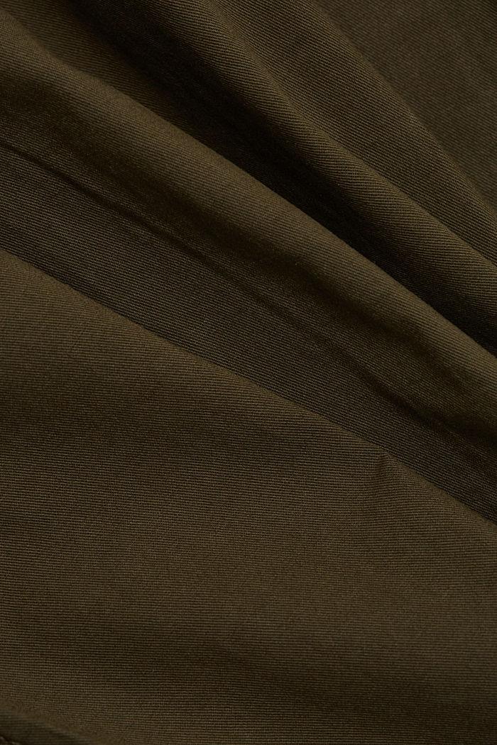 Pantaloni cargo in cotone biologico, KHAKI GREEN, detail image number 4
