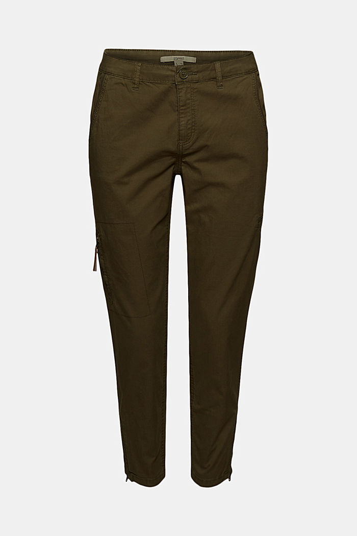 Pantaloni cargo in cotone biologico, KHAKI GREEN, detail image number 7