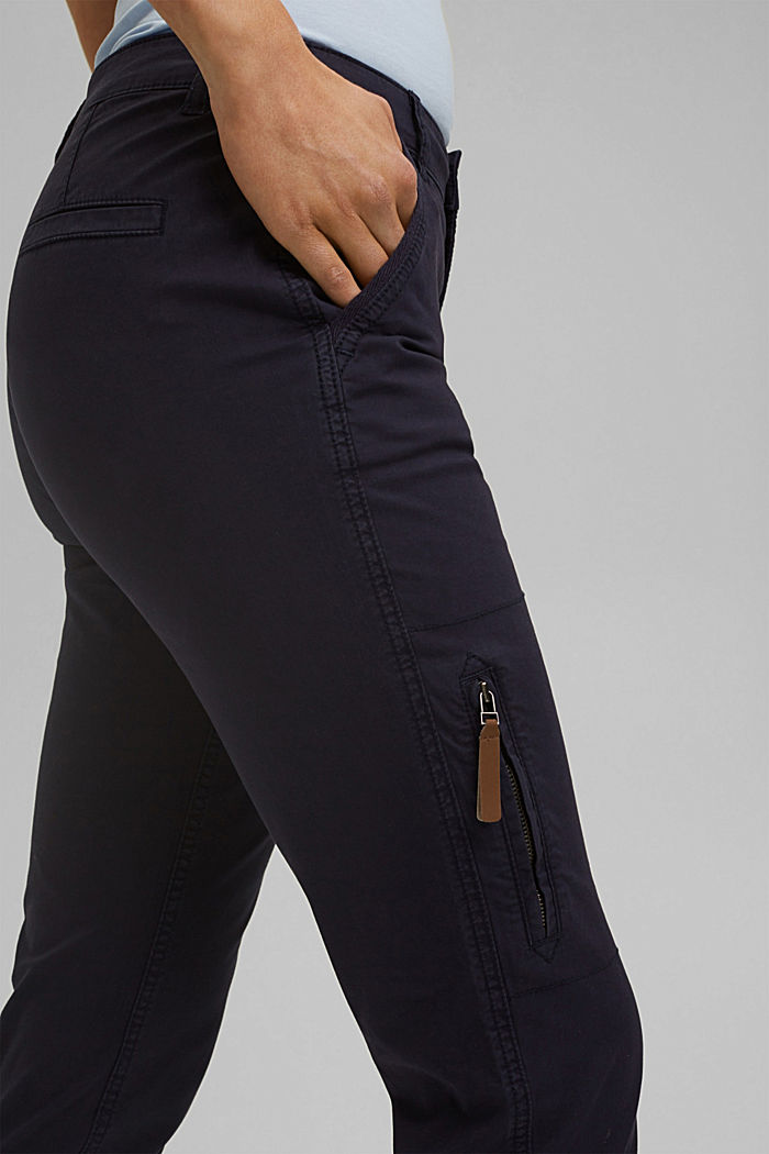 Cargo trousers made of pima cotton, NAVY, detail image number 2