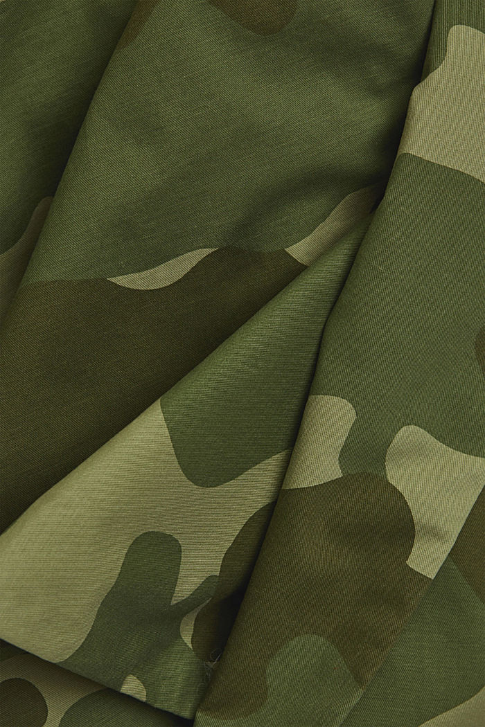 Camouflage cargo trousers made of pima cotton, LIGHT KHAKI, detail image number 4