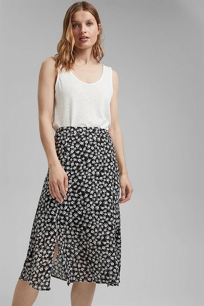 Blomstret midi-nederdel af LENZING™ ECOVERO™
