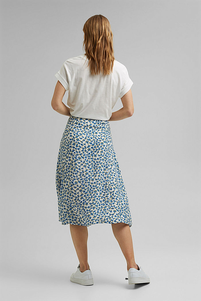 Floral midi skirt made of LENZING™ ECOVERO™, OFF WHITE, detail image number 3