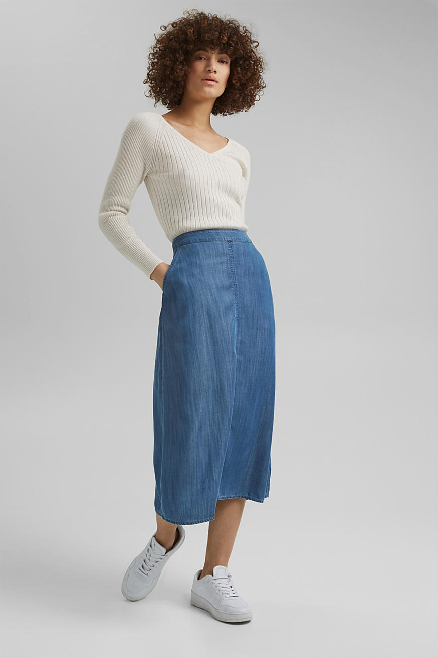 Van TENCEL™: rok met denim look