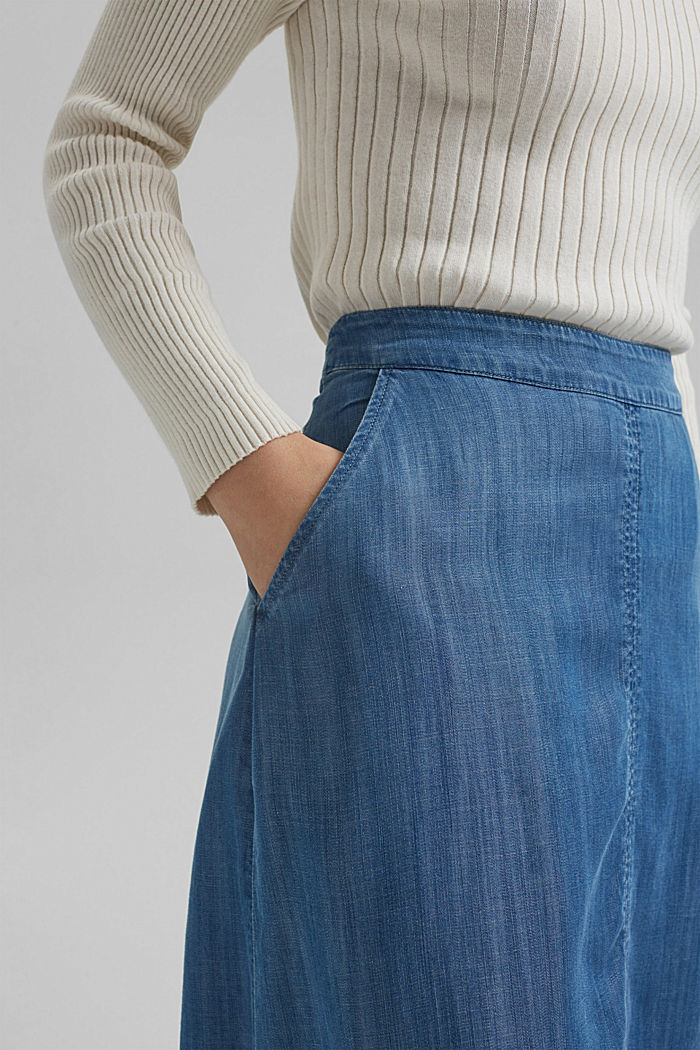 Made of TENCEL™: Denim look skirt, BLUE MEDIUM WASHED, detail image number 2