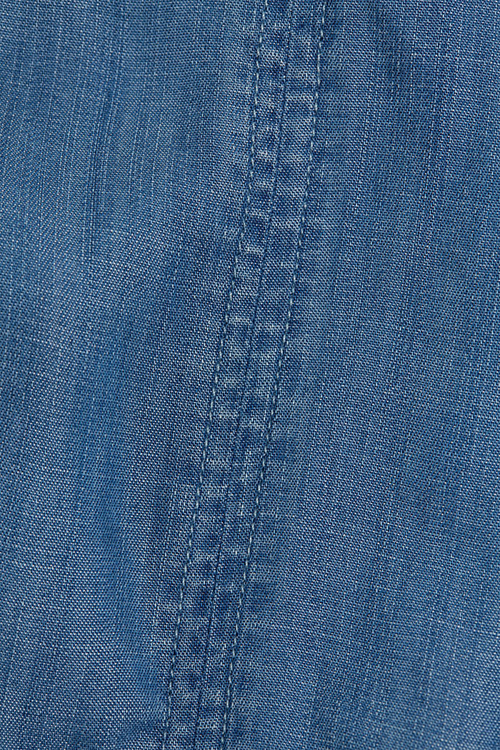 Made of TENCEL™: Denim look skirt, BLUE MEDIUM WASHED, detail image number 4