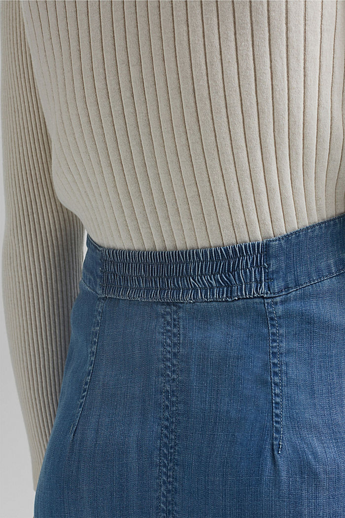 Made of TENCEL™: Denim look skirt, BLUE MEDIUM WASHED, detail image number 5