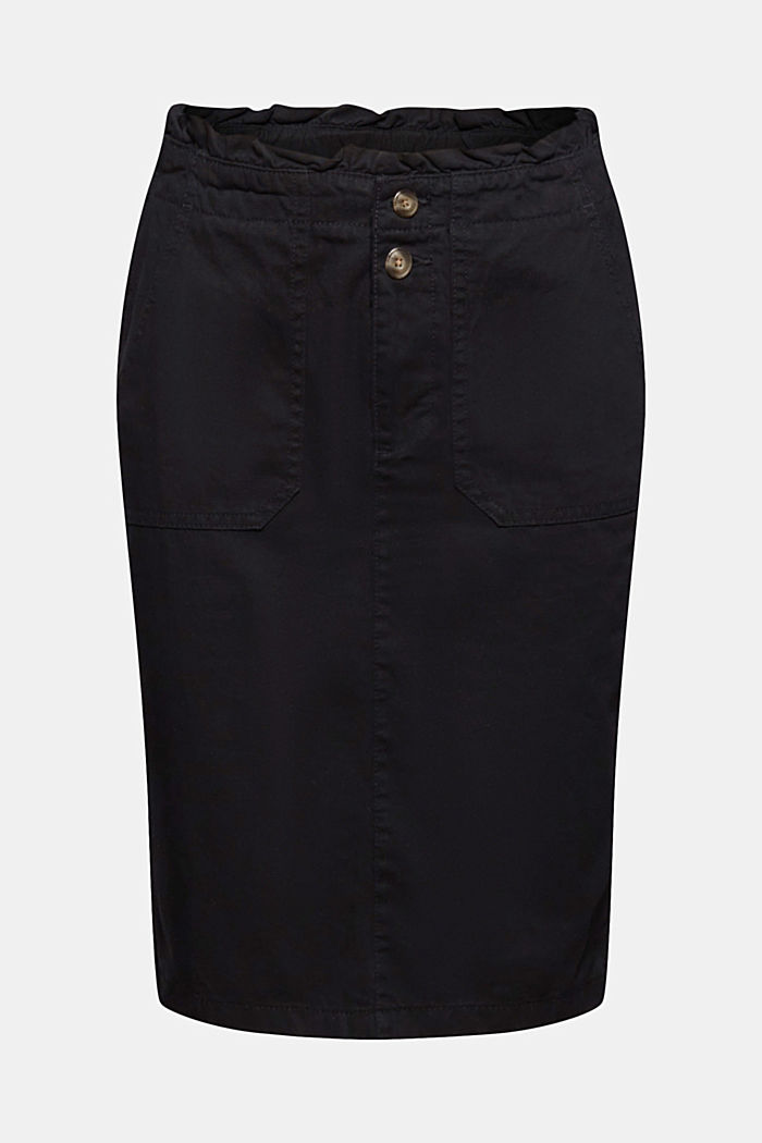 Utility skirt with a paperbag waistband