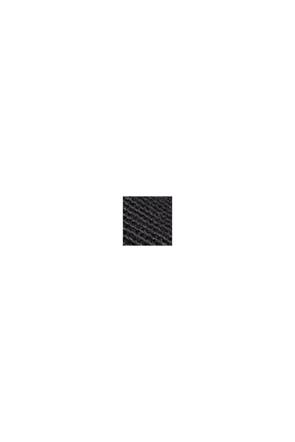 Falda de estilo militar con cintura paper bag, BLACK, swatch