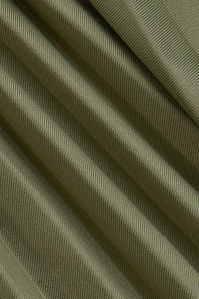 Pleated skirt with an elasticated waistband, LIGHT KHAKI, detail image number 4