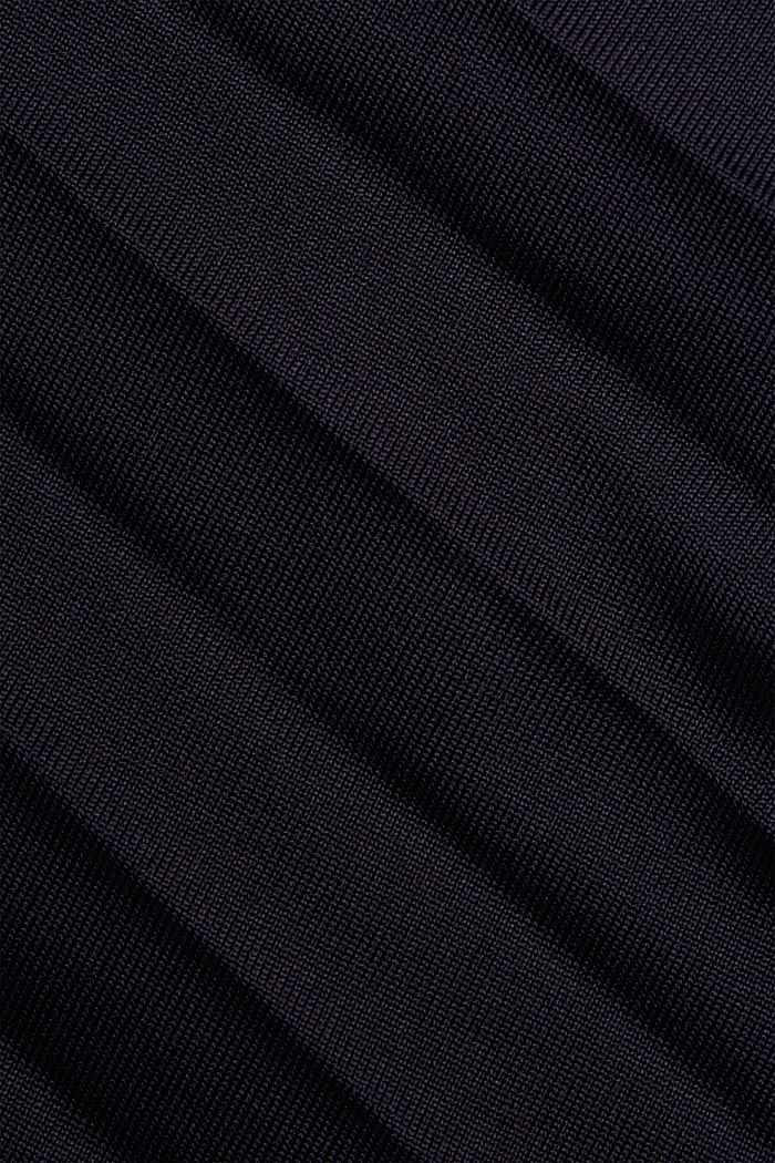 Pleated skirt with an elasticated waistband, NAVY, detail image number 4