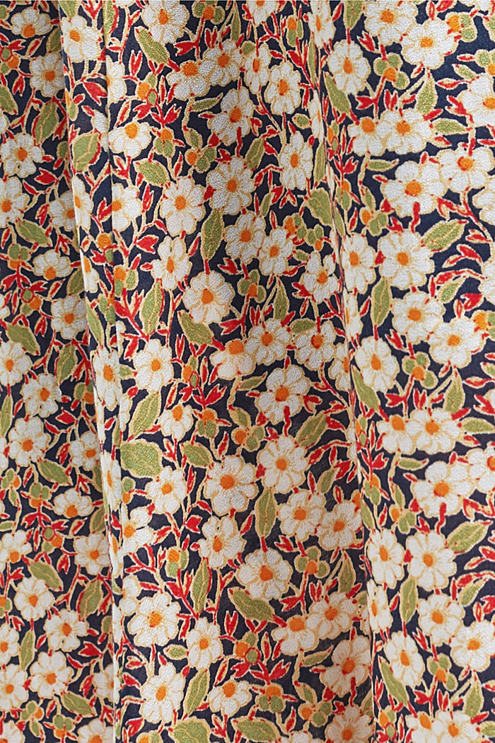 Floral midi skirt made of LENZING™ ECOVERO™, NAVY, detail image number 4